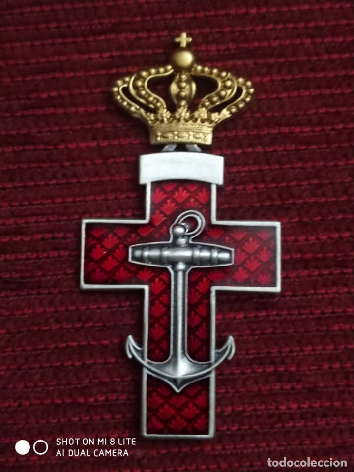 ORDEN , MEDALLA CRUZ NAVAL , PLACA, INSIGNIA MILITAR, ARMADA DE GUERRA ESPAÑOLA. ESPAÑA (Militar - Reproducciones y Réplicas de Medallas )
