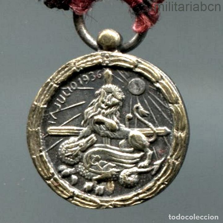 Militaria: Miniatura de la Medalla de la Campaña de la Guerra Civil. - Foto 3 - 195278063