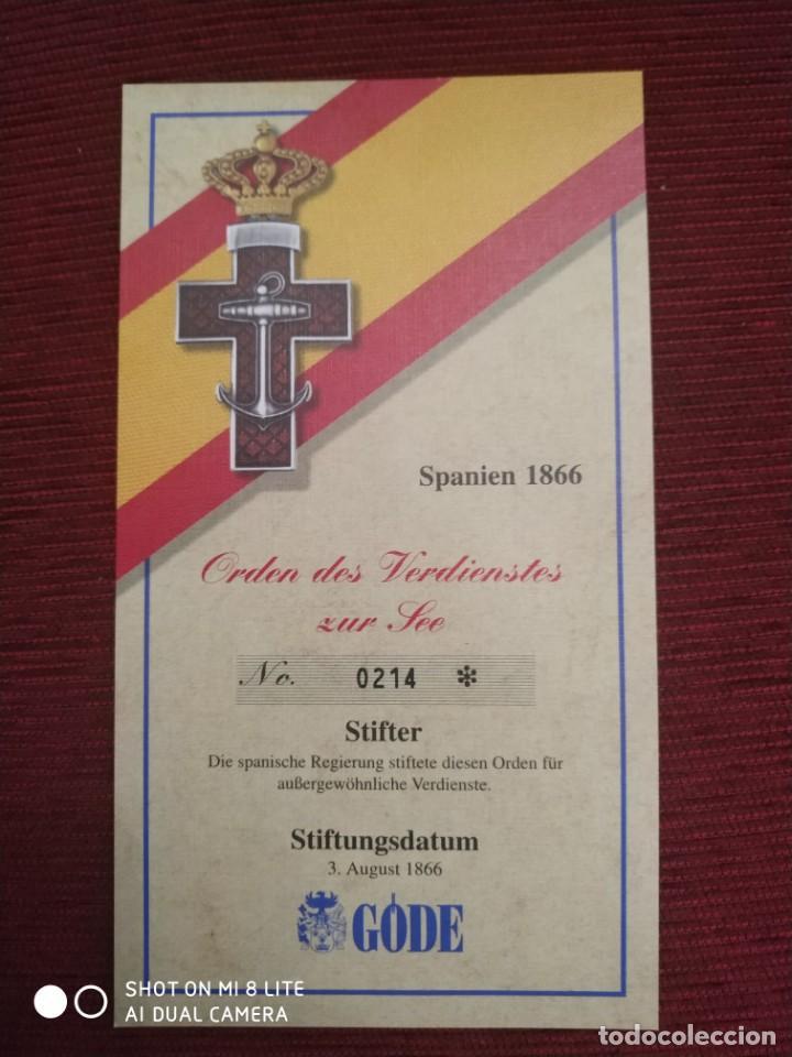 Militaria: ORDEN , MEDALLA CRUZ NAVAL , PLACA, INSIGNIA MILITAR, ARMADA DE GUERRA ESPAÑOLA. ESPAÑA - Foto 3 - 195263837