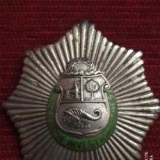 Militaria: INSIGNIA DISTINTIVO PLACA MUY ANTIGUA DE POLICIA DEL PERU. HOMOLOGA CUERPO SEGURIDAD ESPAÑA ALFONSO. Lote 195289310