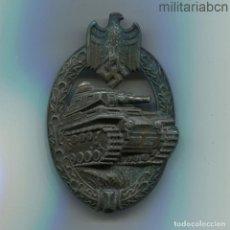 Militaria: ALEMANIA III REICH. PLACA DE CARROS EN BRONCE. PANZERKAMPFABZEICHEN IN BRONZE. MARCADA AS.. Lote 195320592