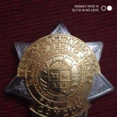 Militaria: ESTRELLA, PLACA, POLICIA LOCAL MUNICIPAL CANCUN MEXICO, MEJICO MUNICIPIO BENITO JUAREZ DISTINTIVO. Lote 195327356