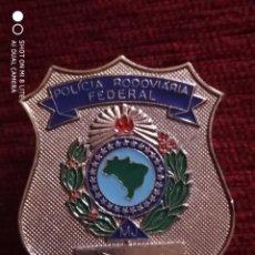 Militaria: PLACA DE LA POLICIA FERROVIARIA DE BRASIL, INSIGNIA DISTINTIVO POLICIAL FEDERAL. Lote 195338636
