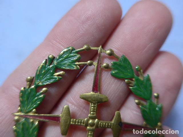 Militaria: * Antigua medalla de chapa laureada de san fernando, tipo colectiva, guerra civil. Original. ZX - Foto 3 - 195340930