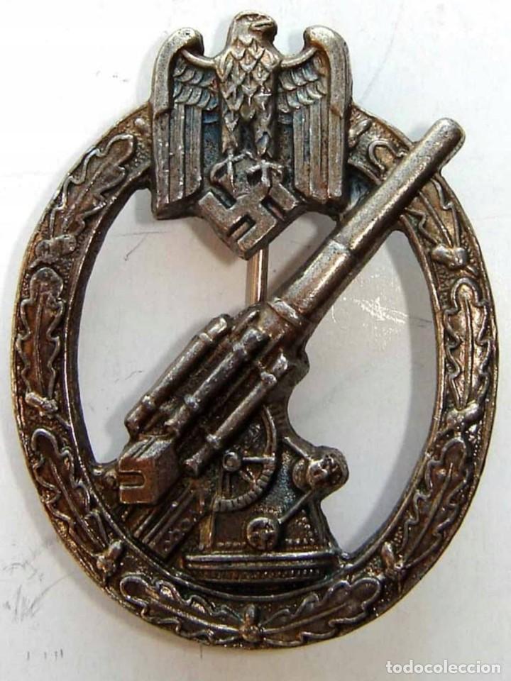 INSIGNIA DE ANTI-AÉREOS DE WEHRMACHT , TERCER REICH, NAZI, GRAN CALIDAD (Militar - Reproducciones y Réplicas de Medallas )