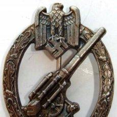Militaria: INSIGNIA DE ANTI-AÉREOS DE WEHRMACHT , TERCER REICH, NAZI, GRAN CALIDAD . Lote 195344592