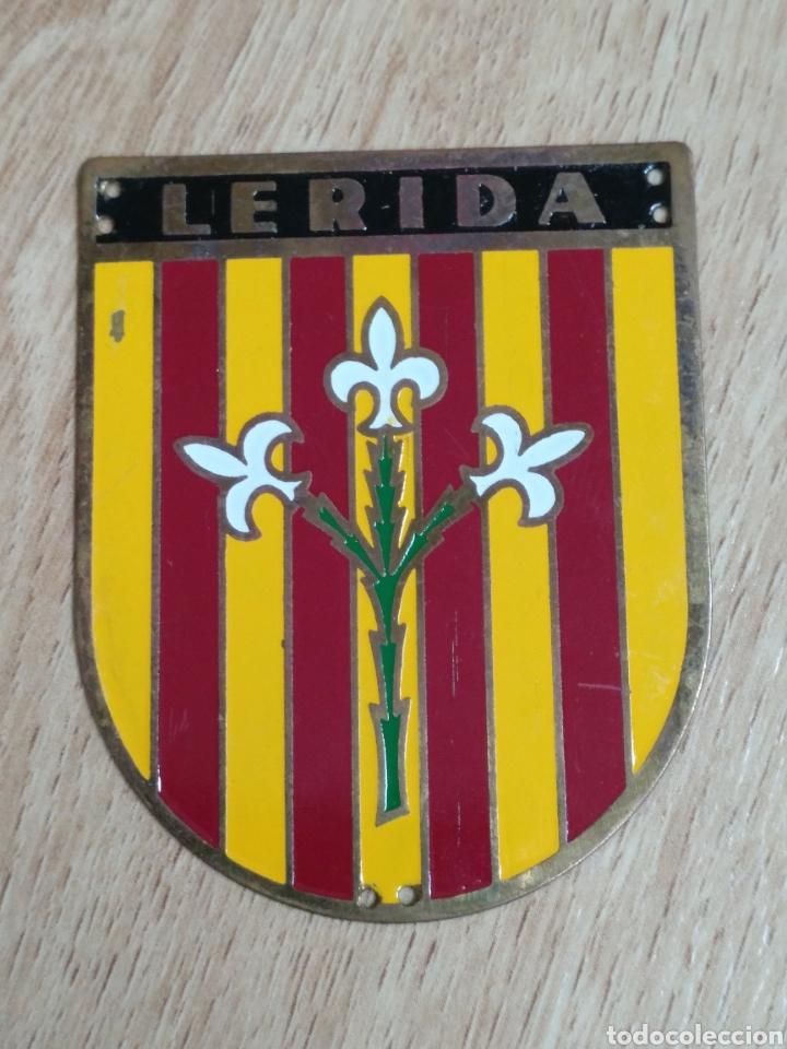 PLACA PROVINCIAL OJE LERIDA - FRENTE JUVENTUDES - O.J.E - EPOCA FRANCO. (Militar - Medallas Españolas Originales )