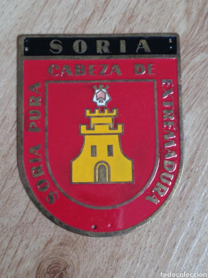 PLACA PROVINCIAL OJE SORIA - FRENTE JUVENTUDES - O.J.E - EPOCA FRANCO. (Militar - Medallas Españolas Originales )