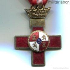 Militaria: CRUZ DE LA ORDEN AL MÉRITO MILITAR. DISTINTIVO ROJO. ÉPOCA FRANCO.. Lote 195413138