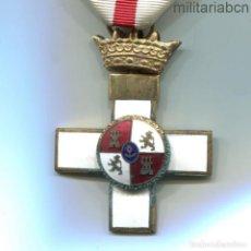 Militaria: CRUZ DE LA ORDEN AL MÉRITO MILITAR. DISTINTIVO BLANCO. ÉPOCA FRANCO.. Lote 195413752