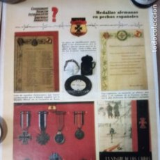 Militaria: LAMINA MEDALLAS ESPAÑOLAS,D.A. Lote 195444343