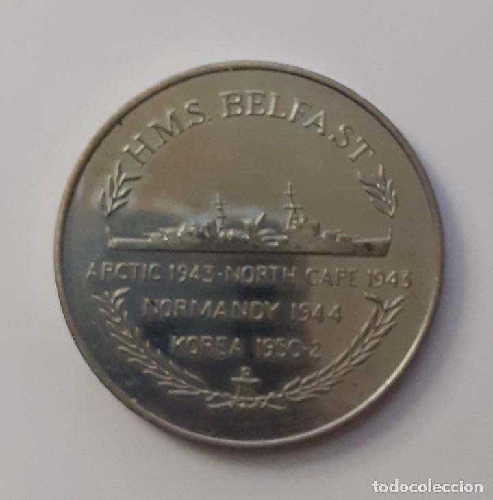 MEDALLA HMS BELFAST ARTIC 1943.NORTH CAPE 1943 NORMANDY 1944. KOREA 1950-2 (Militar - Medallas Internacionales Originales)