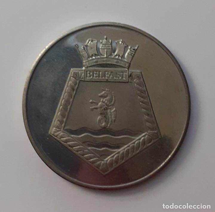 Militaria: MEDALLA HMS BELFAST ARTIC 1943.NORTH CAPE 1943 NORMANDY 1944. KOREA 1950-2 - Foto 2 - 195572593