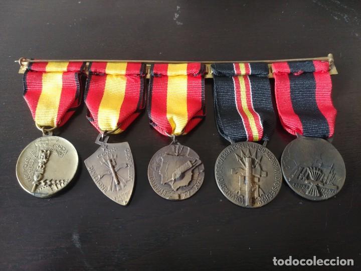 Militaria: PASADOR CON 5 MEDALLAS ITALIANAS DE LA GUERRA CIVIL ESPAÑOLA - Foto 2 - 195721345