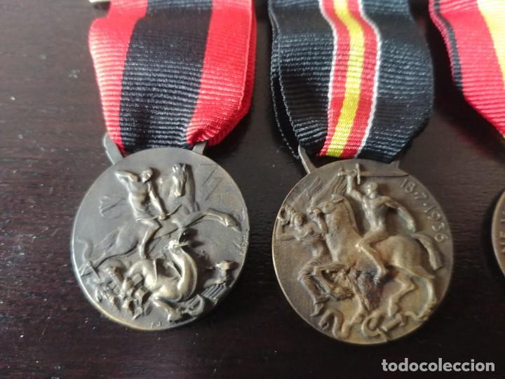 Militaria: PASADOR CON 5 MEDALLAS ITALIANAS DE LA GUERRA CIVIL ESPAÑOLA - Foto 3 - 195721345