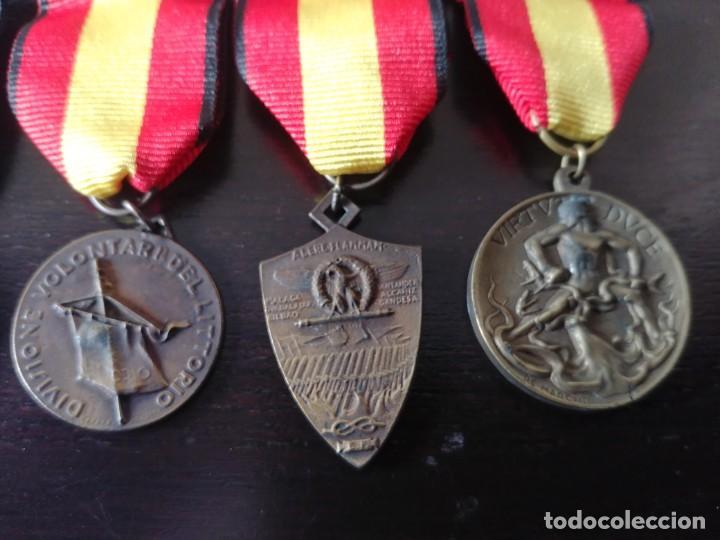 Militaria: PASADOR CON 5 MEDALLAS ITALIANAS DE LA GUERRA CIVIL ESPAÑOLA - Foto 4 - 195721345