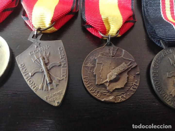Militaria: PASADOR CON 5 MEDALLAS ITALIANAS DE LA GUERRA CIVIL ESPAÑOLA - Foto 6 - 195721345