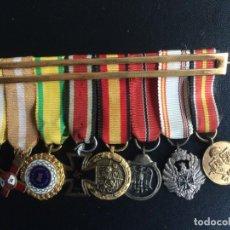 Militaria: DIVISION AZUL : PASADOR CON 8 MINIATURAS MEDALLAS DE DIVISIONARIO:CRUZ DE GUERRA, ANTIBOLCHEVIQUE.. Lote 196271452