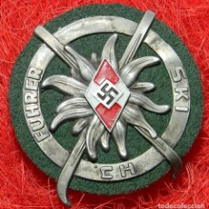 Militaria: HITLERJUGEND. JUVENTUDES HITLERIANAS INSIGNIA SKI FÜHRER. ESQUI ALPINO. MEDIDAS: 70 X 60 . Lote 196335907