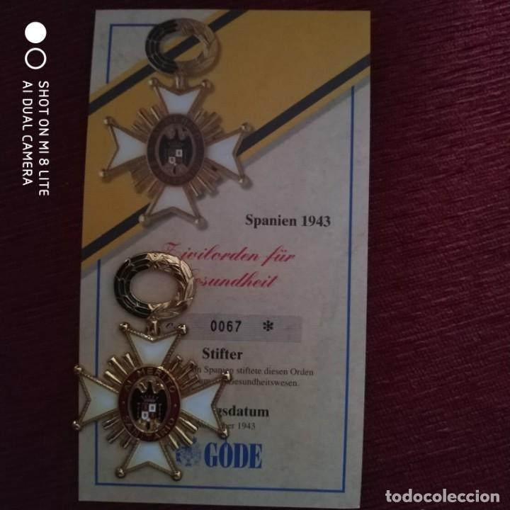 Militaria: ORDEN METAL ESMALTADO MEDALLA INSIGNIA LAUREADA MERITO SANITARIO LA PRESTIGIOSA ALEMANA CASA GODE - Foto 3 - 196515623