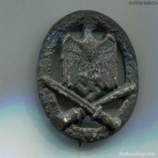 Militaria: ALEMANIA III REICH. PLACA ASALTO GENERAL. ALLGEMEINES STURMABZEICHEN. ZINC. 2ª GUERRA MUNDIAL.. Lote 196977158