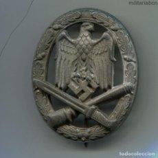 Militaria: ALEMANIA III REICH. PLACA ASALTO GENERAL. ALLGEMEINES STURMABZEICHEN. ZINC. 2ª GUERRA MUNDIAL.. Lote 196977661
