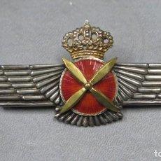 Militaria: ROKISKI DE PILOTO. EJERCITO DEL AIRE. PLATA CELADA. JUAN CARLOS I. Lote 197066892