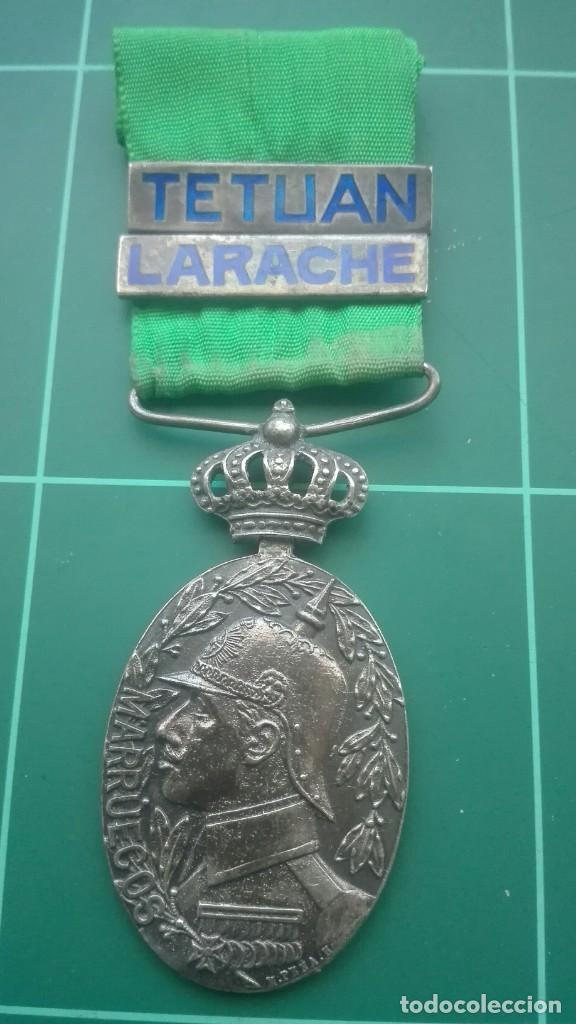 MEDALLA DE CAMPAÑA DE MARRUECOS. TETUÁN Y LARACHE (Militar - Medallas Españolas Originales )