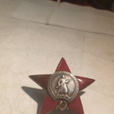 Militaria: ESTRELLA ROJA DE PLATA .ORIGINAL.. Lote 197327332