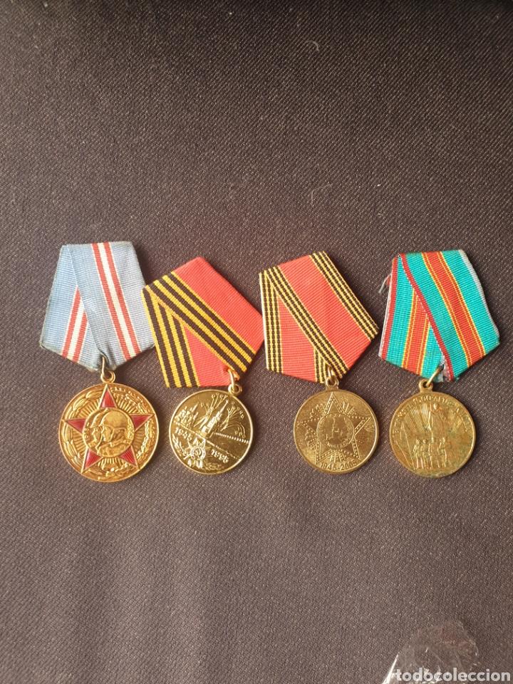LOTE DE 4 MEDALLAS RUSIA-SOVIETICA. (Militar - Medallas Extranjeras Originales)