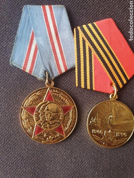 Militaria: Lote de 4 medallas Rusia-sovietica. - Foto 2 - 197325863
