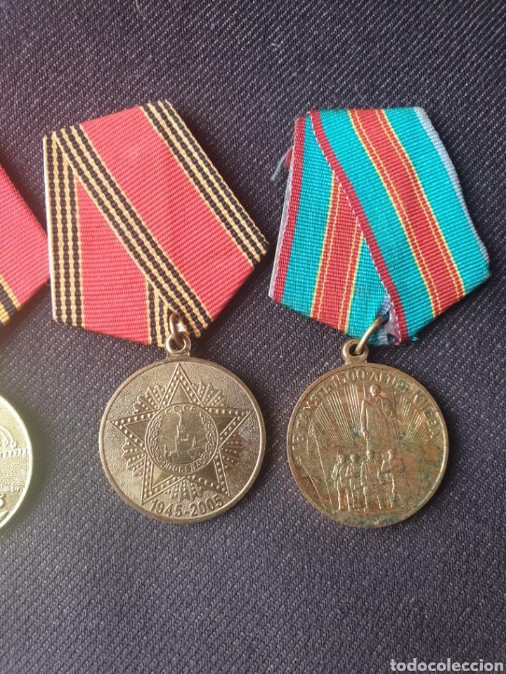 Militaria: Lote de 4 medallas Rusia-sovietica. - Foto 3 - 197325863