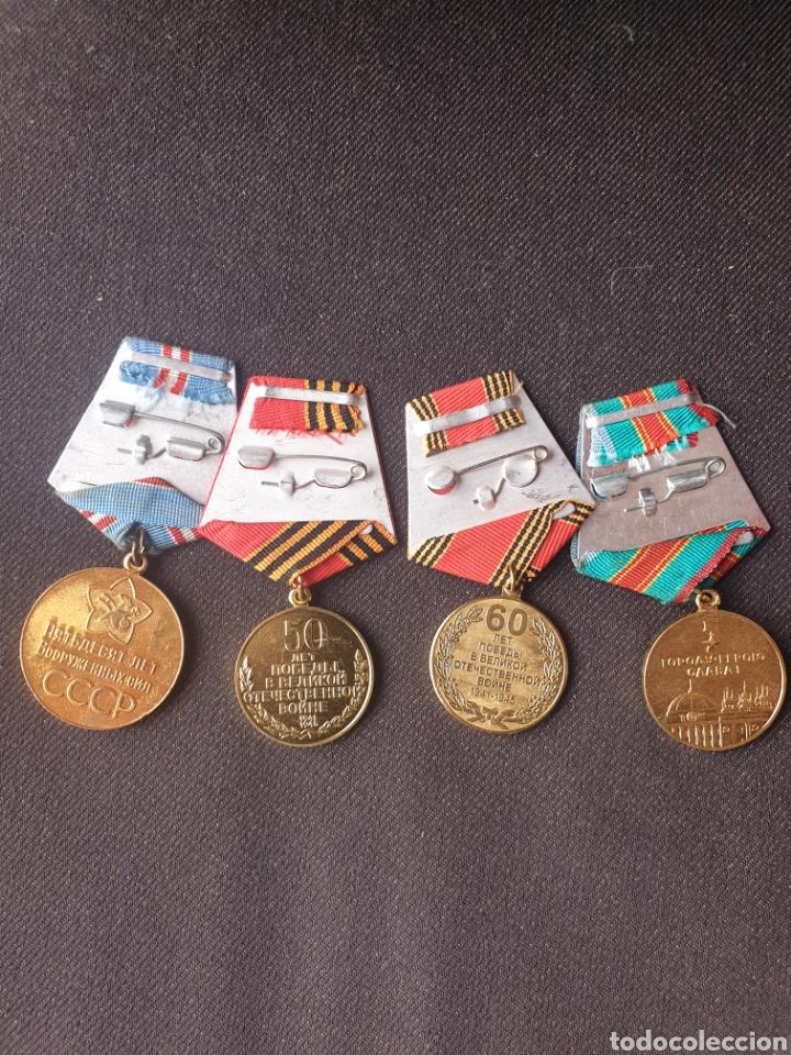 Militaria: Lote de 4 medallas Rusia-sovietica. - Foto 4 - 197325863