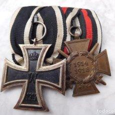 Militaria: PASADOR DE MEDALLAS CRUZ DE HIERRO Y CRUZ DE HINDENBURG EK2 WW1. Lote 197636153