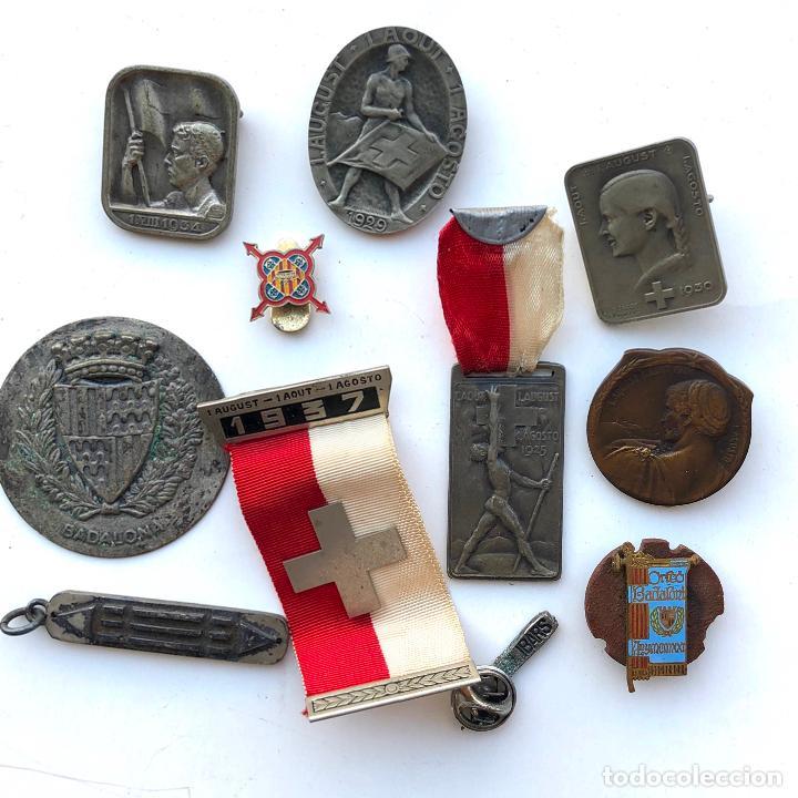 LOTE DE MEDALLAS VARIADAS, VER FOTOS ANEXAS. 1920'S-30'S. UNA DEL 1937. Y DE BADALONA. (Militar - Medallas Españolas Originales )