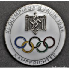 Militaria: INSIGNIA PIN PARA JUECES JUEGOS OLÍMPICOS DE BERLÍN 1936 ALEMANIA PARTIDO NAZI TERCER REICH NSDAP. Lote 197769587
