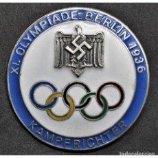 Militaria: INSIGNIA PIN PARA JUECES JUEGOS OLÍMPICOS DE BERLÍN 1936 ALEMANIA PARTIDO NAZI TERCER REICH NSDAP. Lote 197770416