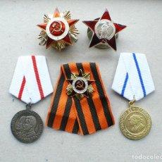 Militaria: 5 MEDALLAS.UNIÓN SOVIÉTICA. Lote 198240547