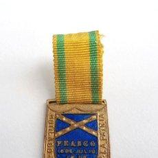 Militaria: MEDALLA MUTILADO DE GUERRA POR LA PATRIA - FRANCO 18 DE JULIO 1936 - CON CINTA ORIGINAL. Lote 198429758