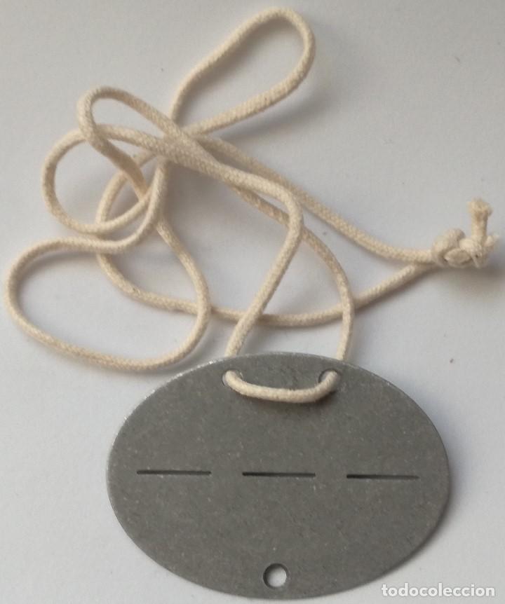 RÉPLICA CHAPA DE IDENTIFICACIÓN. ALEMANIA. 1939-1945. II GUERRA MUNDIAL (Militar - Reproducciones y Réplicas de Medallas )