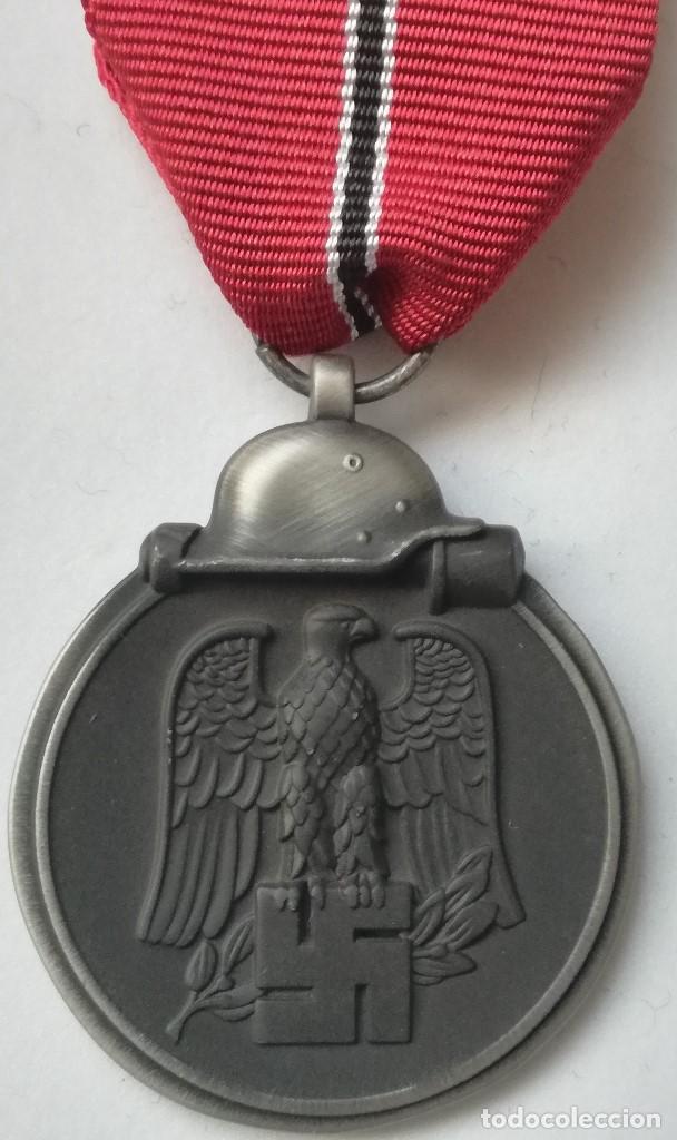 RÉPLICA MEDALLA CAMPAÑA INVIERNO DEL ESTE. CAMPAÑA DE RUSIA. 1941-1942. OSTMEDAILLE. DIVISIÓN AZUL (Militar - Reproducciones y Réplicas de Medallas )