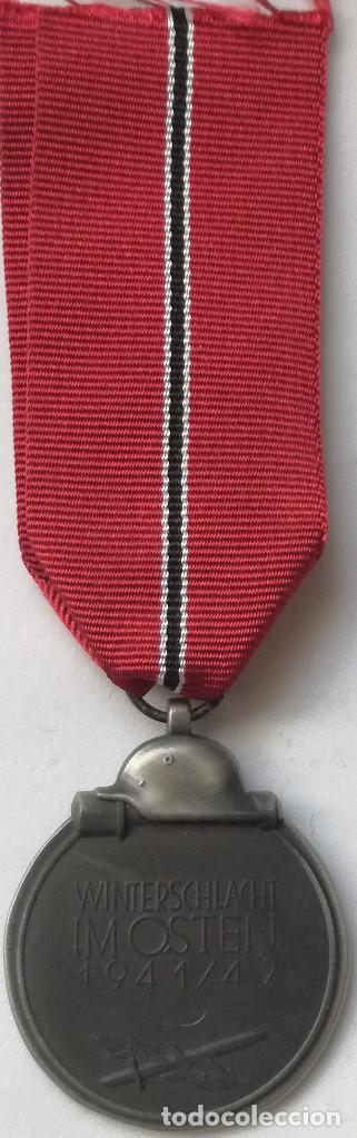 Militaria: RÉPLICA Medalla Campaña Invierno del Este. Campaña de Rusia. 1941-1942. Ostmedaille. División Azul - Foto 3 - 198485662