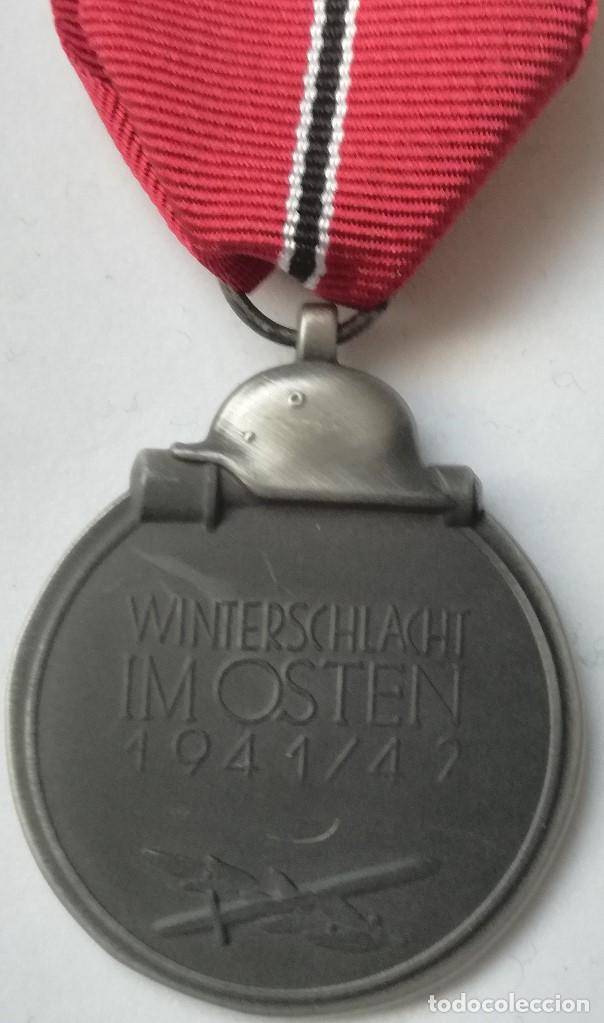 Militaria: RÉPLICA Medalla Campaña Invierno del Este. Campaña de Rusia. 1941-1942. Ostmedaille. División Azul - Foto 4 - 198485662
