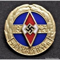 Militaria: INSIGNIA PIN HITLERJUGEND CAMPEONATO JUVENIL 1943 JUVENTUDES HITLERIANAS PARTIDO NAZI TERCER REICH. Lote 198554681
