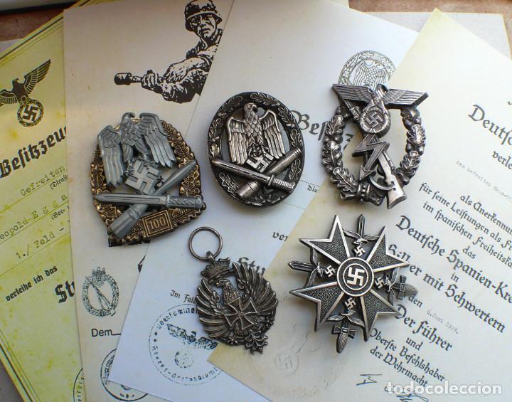 5 INSIGNIAS .TERCER REICH. LOTE 1 (Militar - Reproducciones y Réplicas de Medallas )