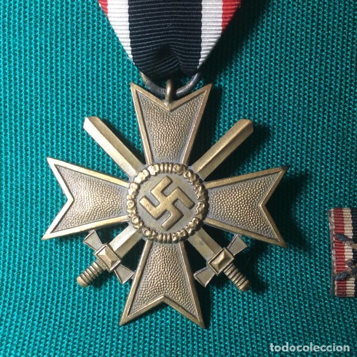 Militaria: Cruz de mérito con espadas II G.M. Con miniatura - Foto 2 - 198605301