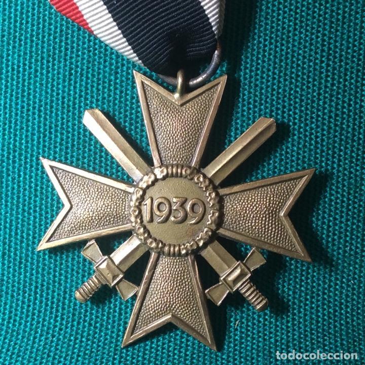 Militaria: Cruz de mérito con espadas II G.M. Con miniatura - Foto 5 - 198605301