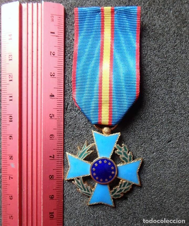 Militaria: (JX-200381)Medalla , placa y pin del Fomento Europeo , cinta España . - Foto 5 - 198634371