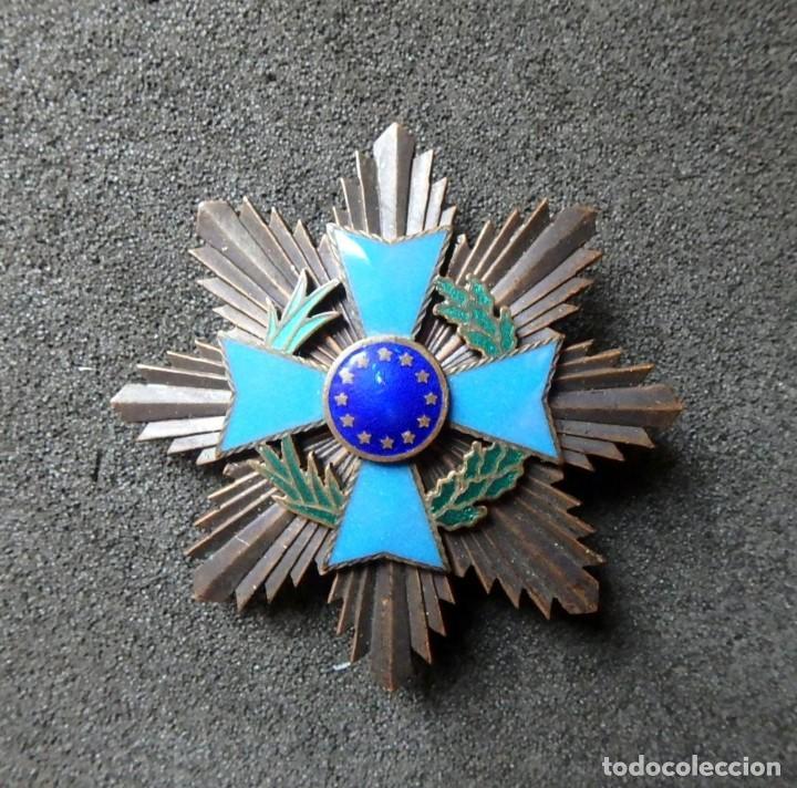 Militaria: (JX-200381)Medalla , placa y pin del Fomento Europeo , cinta España . - Foto 6 - 198634371