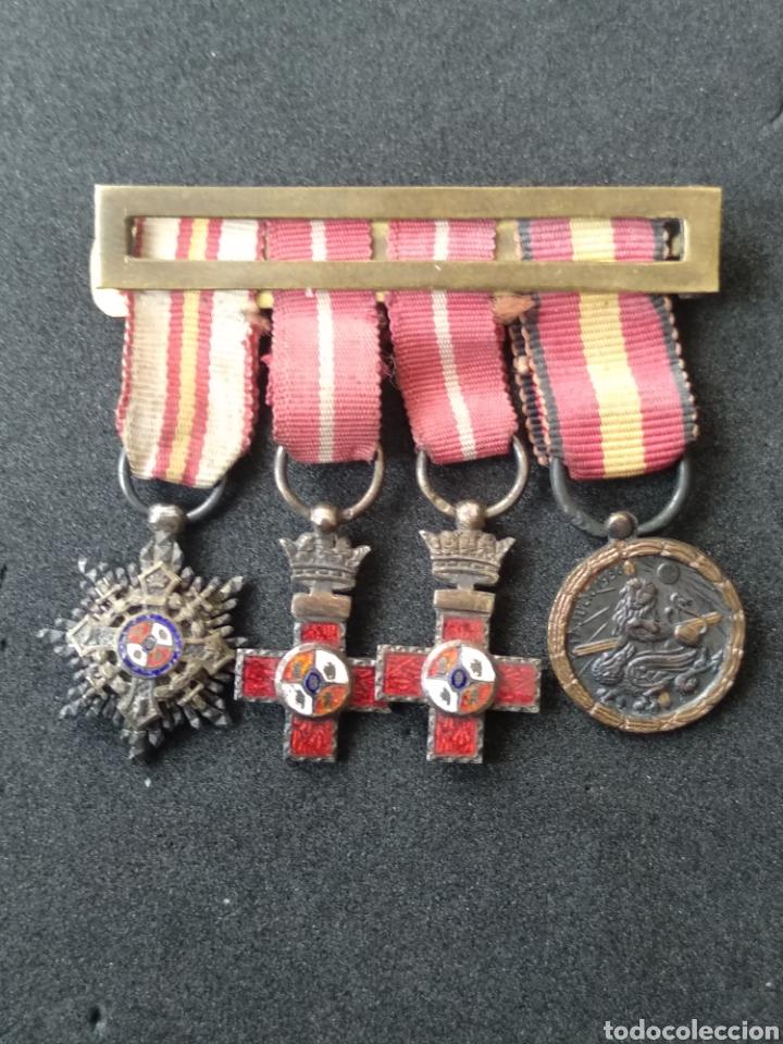 Militaria: Pasador miniatura medallas españolas - Foto 5 - 198958392